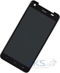 Дисплей (экраны) для телефона HTC Butterfly X920e + Touchscreen with frame Original Black