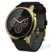 Умные часы Motorola Moto 360 2nd Generation 46mm. Gold with Black Leather Band (00815NARTL)