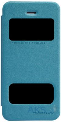 Чехол Nillkin Sparkle Leather Series Apple iPhone 5, iPhone 5S, iPhone SE Blue