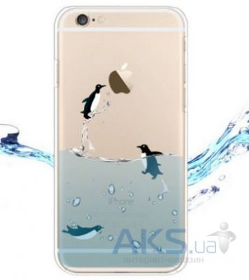 Чехол Original TPU Ocean Series Apple iPhone 6, 6S Transparent Пингвины