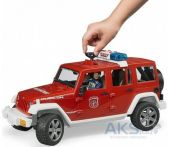 Джип Пожарный Bruder Wrangler Unlimited Rubicon + фигурка пожарника (02528)