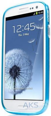 Чехол Capdase Alumor Bumper DuoFrame Blue/Silver for Samsung Galaxy S III i9300 (MBSGI9300-003S)