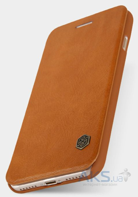 Вид 3 - Чехол Nillkin Qin Leather Series Apple iPhone 7 Brown