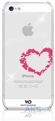 Чехол White Diamonds Lipstick Heart Apple iPhone 5, iPhone 5S, iPhone 5SE (1210LIP61)