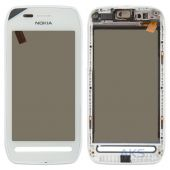 Сенсор (тачскрін) Nokia 603 with frame White