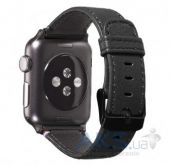 Вид 4 - Decoded Napa Leather Apple Watch 38 (D5AW38SP1BK) Black
