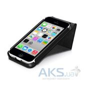 Вид 4 - Чехол Macally Flip Case W. Rotatable Stand For iPhone 5C Black (SSTANDP6-B)