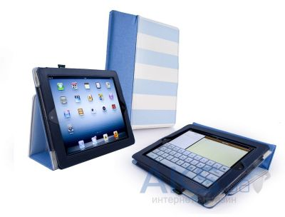"Чехол для планшета Tuff-Luv Type-View ""Candy Rock"" case for iPad 2,3,4 Blue (E1_25)"