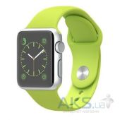 Умные часы Apple Watch Sport 38mm Aluminum Silver with Green Sport Band (MJ2U2)