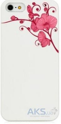 Чехол Bling My Thing Orchid Colour Apple iPhone 5, iPhone 5S, iPhone SE White with Pink (BMT-AI5-OD-WH-LRS)