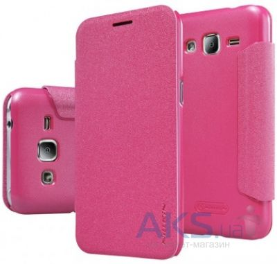 Чехол Nillkin Sparkle Leather Series Samsung J200 Galaxy J2 Pink