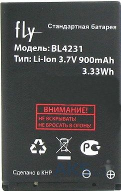 Аккумулятор Fly DS105C / BL4231 (900 mAh) Original
