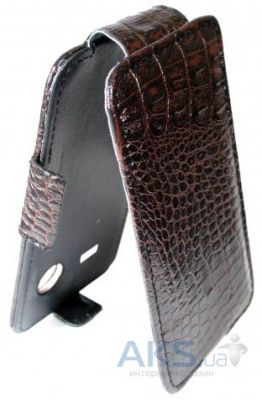Чехол Sirius flip case Alcatel One Touch 4033d Pop C3 Brown Croco