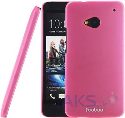 Чехол Yoobao Crystal Protect case for HTC One Pink (PCHTCONE-CPK)