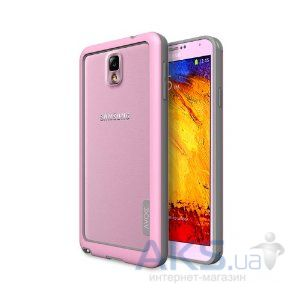 Чехол Avoc Bumper Solid for Galaxy Note 3 Pink/Grey
