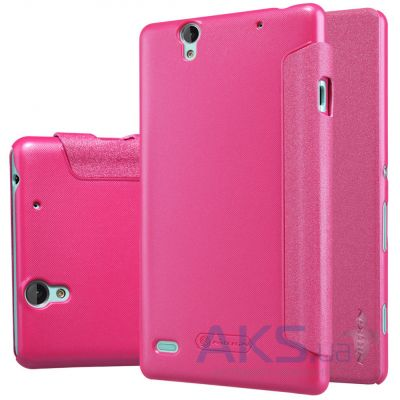 Чехол Nillkin Sparkle Leather Series Sony Xperia C4 E5333 Pink