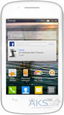 Сенсор (тачскрин) для Alcatel One Touch C1 Dual Sim 4015D White