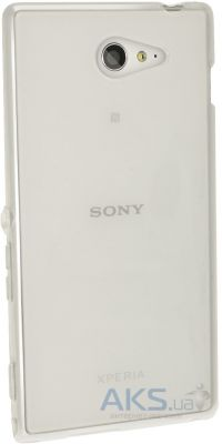 Чехол Original TPU Case Sony Xperia M2 D2302 Transparent