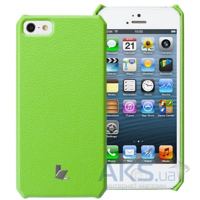 Чехол JisonCase Fashion Wallet Case for iPhone 5/5S Green (JS-IP5-01H70)