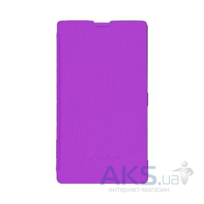 Чехол Melkco Book leather case for Nokia Lumia 620 Purple (NKLU62LCFB2PELC)