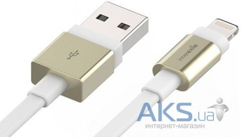 Кабель USB Innerexile Zynk Flat Lightning Cable 1.8m Gold/White (LC-003-002)