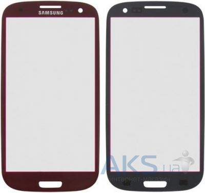 Стекло для Samsung Galaxy S3 I9300, I9305 Original Red