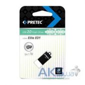Флешка Pretec Elite 16Gb (E2T16G-1BK) Black - мініатюра 1