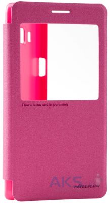Чехол Nillkin Sparkle Leather Series Samsung A700H Galaxy A7 Red