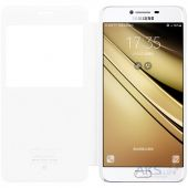 Вид 2 - Чехол Nillkin Sparkle Leather Series Samsung C7000 Galaxy С7 White