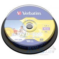 Диск Verbatim DVD+RW mini 1.4Gb 4X CakeBox Printable 10ш (43641)