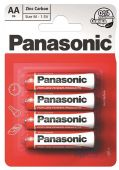 Батарейки Panasonic AA (R6) Red Zinc 4шт (R6REL/4BPR)