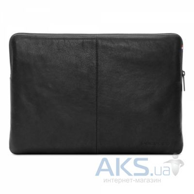 Чехол Decoded Leather Slim Sleeve with Zipper for MacBook 12 Black (D4SS12BK)