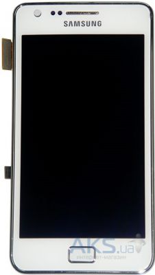 Дисплей (экраны) для телефона Samsung Galaxy S2 Plus I9105 + Touchscrееn with frame Original White