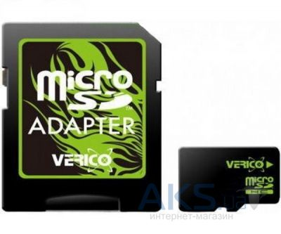 Карта памяти Verico 64GB MicroSDHC Class 10 + SD Adapter (FE3-64G-V1E)