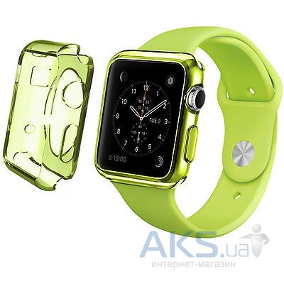 Чехол iBest для Apple Watch 38mm TPU Case Clear Green