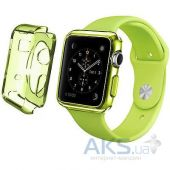 iBest чехол для Apple Watch 38mm TPU Case Clear Green