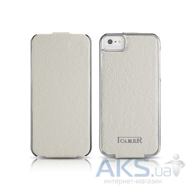 Чехол iCarer Electroplating Apple iPhone 5, iPhone 5S, iPhone 5SE White