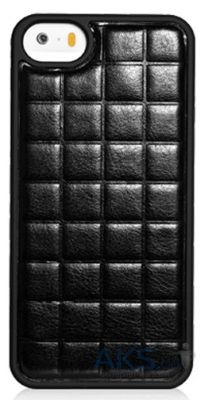 Чехол Xoomz PU Grid Apple iPhone 5, iPhone 5S, iPhone 5SE Black