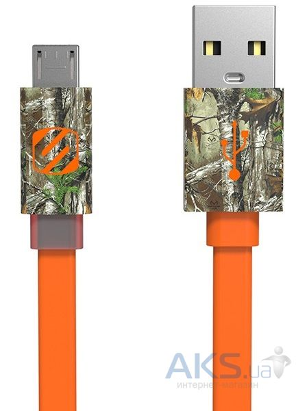 Кабель USB Scosche FlatOut™ LED Realtree® Micro USB Orange (MFLEDRT)