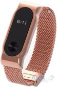 NICHOSI Steel Wicker Design for Xiaomi Mi Band 2 Exclusive Gold Strap