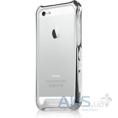 Чехол ITSkins Aluminium Bumper Toxik for iPhone 5 Silver/White (APH5-TOXKB-SLWH)