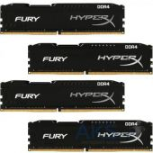 Оперативная память Kingston DDR4 16GB (4x4GB) 2133 MHz Fury Blac (HX421C14FBK4/16)
