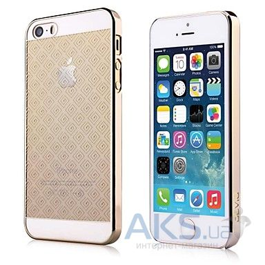 Чехол Devia Glimmer Brocade Apple iPhone 5, iPhone 5S, iPhone SE Gold
