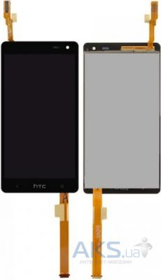 Дисплей (экраны) для телефона HTC Desire 600 Dual Sim, Desire 606w + Touchscreen with frame Original Black