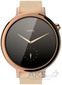 Вид 3 - Умные часы Motorola Moto 360 2nd Generation 42mm Stainless Steel with Rose Gold Leather Strap