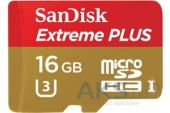 Вид 2 - Карта памяти SanDisk 16GB microSDHC Class 10 ExtremePlus UHS-I 95MB/s + SD Adapter (SDSQXSG-016G-GN6MA)