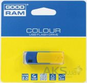 Флешка GooDRam COLOUR 8 GB UKRAINE (PD8GH2GRCOBYR9) Blue/Yellow