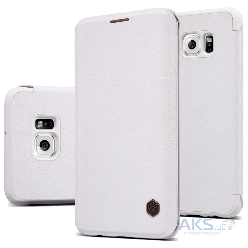 Чехол Nillkin Qin Leather Series Samsung G928 Galaxy S6 Edge Plus White