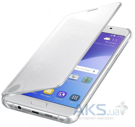 Чехол Samsung Clear View Cover Series A510 Galaxy A5 2016 Silver (EF-ZA510CSEGRU)