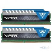 Оперативная память Patriot DDR4 16GB (2x8GB) 2666 MHz Viper Elite Blue (PVE416G266C6KBL)